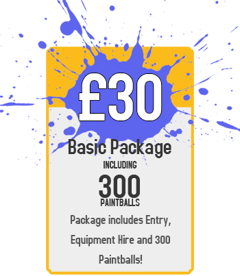 Basic Package : £30 for Paintball Including 300 Paintballs