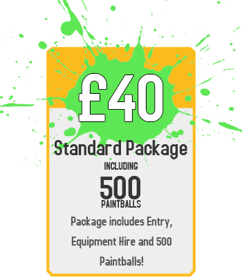 Standard Package : £40 for Paintball Including 500 Paintballs