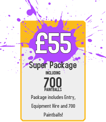 Super Package : £55 for Paintball Including 700 Paintballs