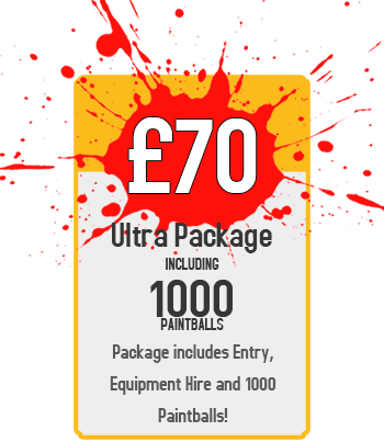 Ultra Package : £70 for Paintball Including 1000 Paintballs