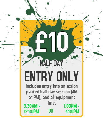 Half Day Pay As You Go - £10 Per Person