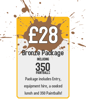 Bronze Package : £28 for Paintball Including 350 Paintballs